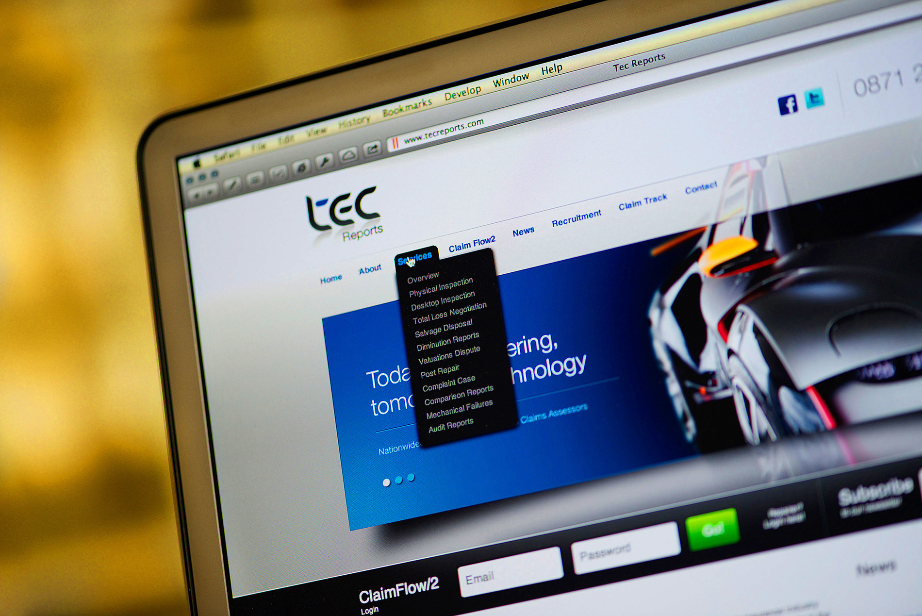 Website & photography – Tec Reports