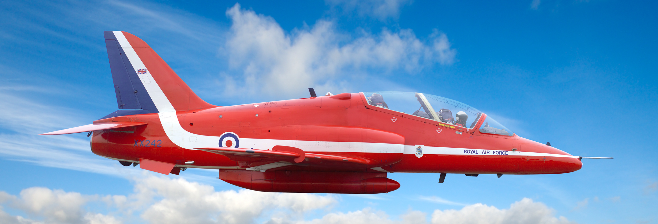 Red Arrows Hawk jet